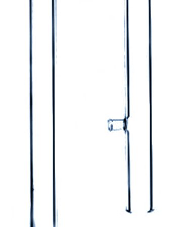 Glass straight type outlet