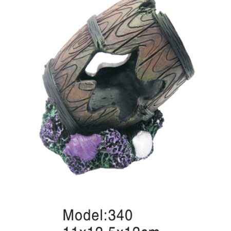 barrel on rock