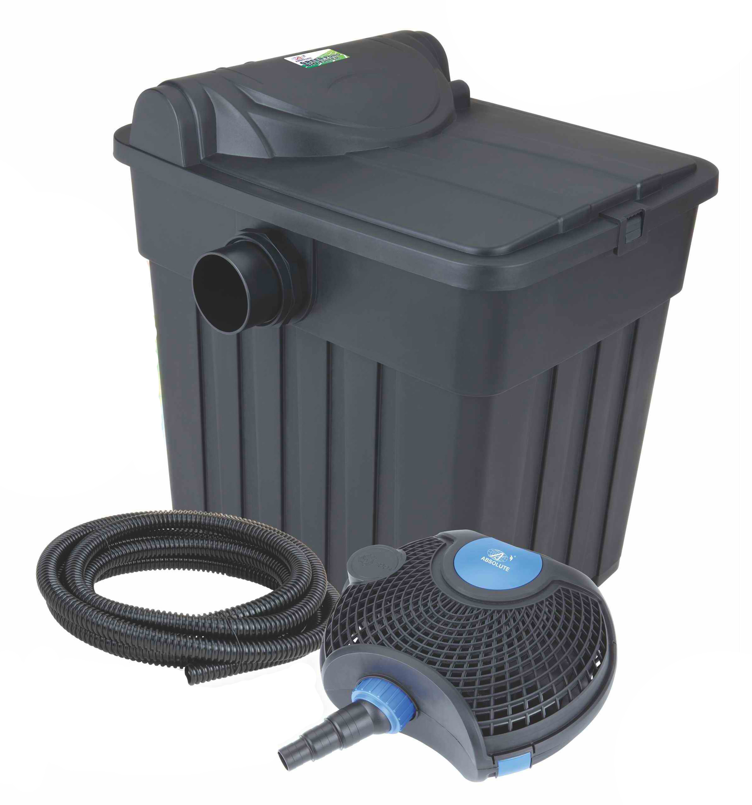 Pond biological filter with uv monaco pet aquariums for Fish pond pumps and filters