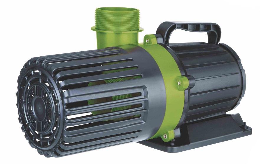green pond water pump