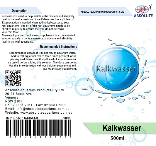 absollute kalkwasser supplement 500ml
