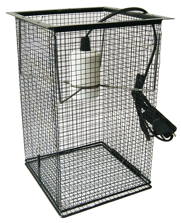 wire mesh basket with ceramic socket