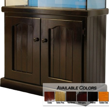 stained hero style cabinet
